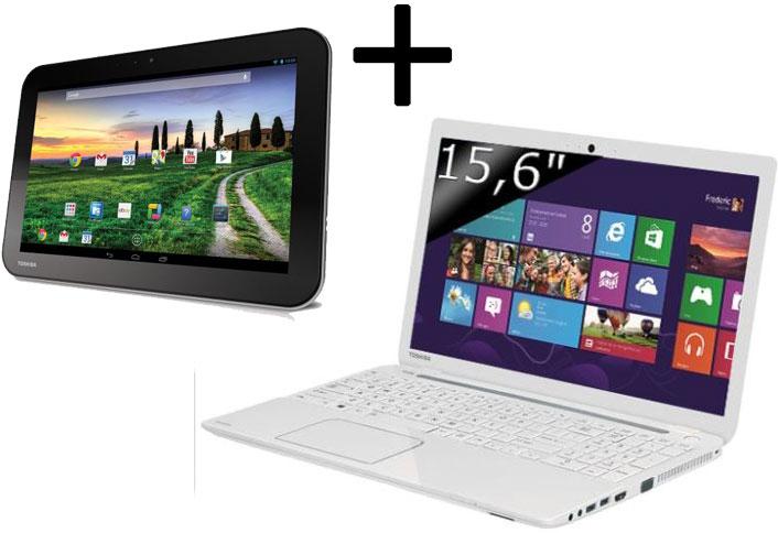 """PC portable Satellite L50-A-173 + Tablette Toshiba 10"""" Excite Pure AT10-A-104 quad core (avec ODR de 300€)"""