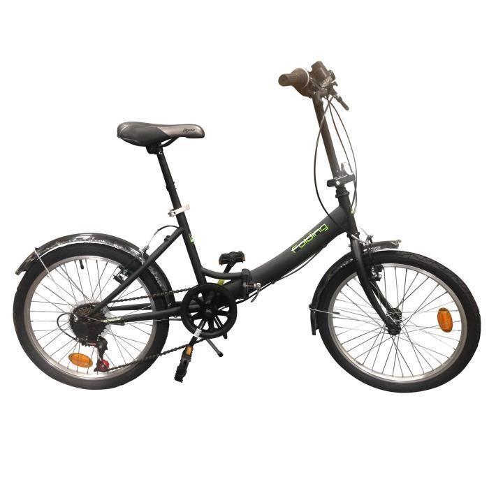 """Vélo Pliant Folding Acier 20"""" Mixte adulte - 6 vitesses"""