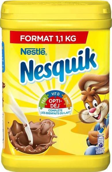 1 Boîte de Chocolat en poudre Nesquik - 1,1Kg