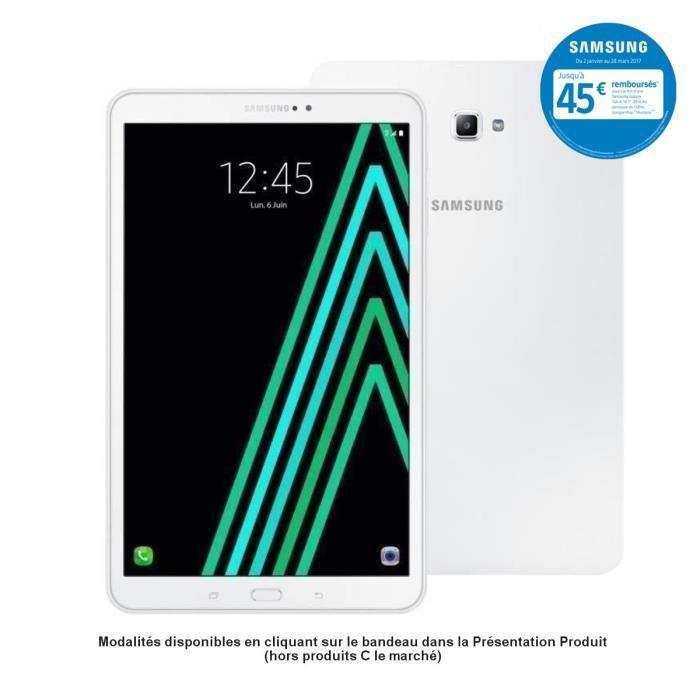 tablette tactile 10 1 samsung galaxy tab a6 version 4g lte avec gps 2 go de ram 16 go via. Black Bedroom Furniture Sets. Home Design Ideas