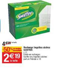 Lingettes Swiffer gratuite