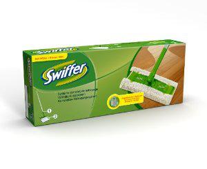 Kit complet de nettoyage Swiffer (Balai + 2 lingettes) - Panier plus