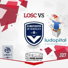 1 place achetée = 1 place offerte pour LOSC vs Bordeaux