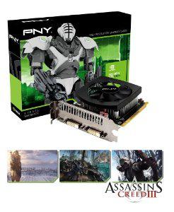 Carte graphique PNY Geforce GTX 650Ti NVIDIA 1 Go, GDDR5, PCI-Ex16 avec Assassins Creed 3