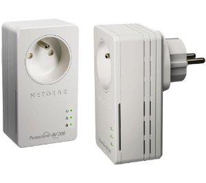Pack de 2 adaptateurs CPL Ethernet Powerline 200 Mbit/s Nano Netgear XAVB1601 (Prise femelle)