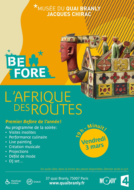 Soirée l'Afrique des Routes - Entrée gratuite à l'exposition le Vendredi 3 Mars 2017 à 19h (au lieu de 12€)