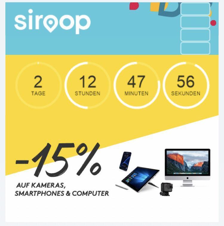 15% de réduction sur les Smartphones, Appareils Photos et Ordinateurs