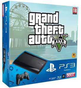 Console PS3 Ultra Slim 500 Go Noire + GTA V + 2  Jeux Ps3 Essentials