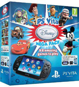 Console PS Vita 3G : Méga Pack : Voucher Disney + Carte Mémoire 8 Go