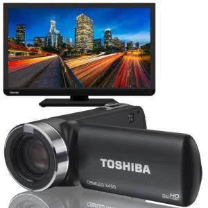 "Caméscope Toshiba X450 + TV LED 24"" Toshiba 24BL742"