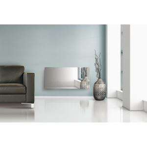 radiateur rayonnant alpina 1500w verre miroir. Black Bedroom Furniture Sets. Home Design Ideas