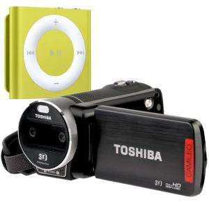 Camescope Toshiba 3D Camileo Z100 + iPod Shuffle 2 Go