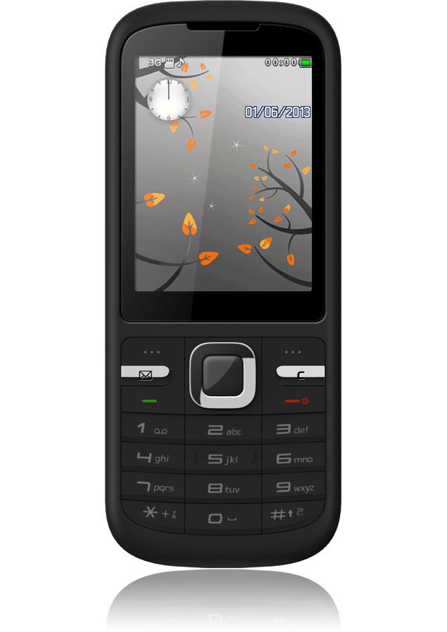 Téléphone Orange Tara noir + mobicarte (avec crédit de 5€)