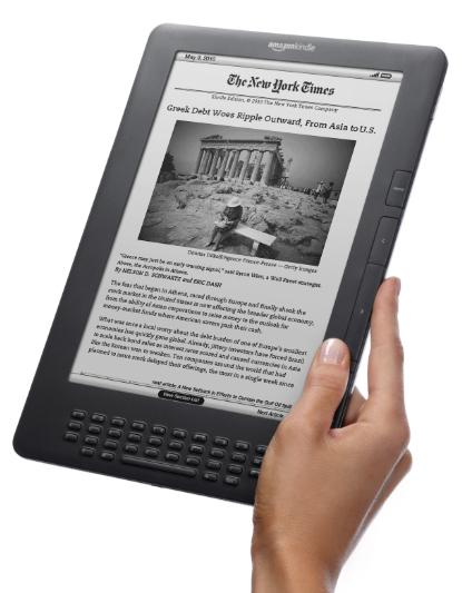 """Liseuse 9.7"""" Kindle DX, 3G (Gratuite), 4 Go / Tout frais inclus"""