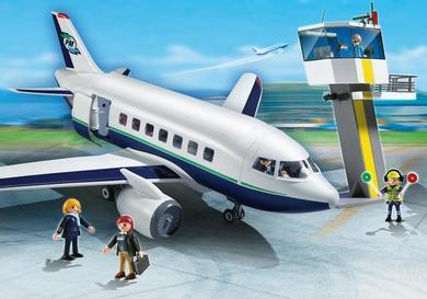 Sélection de Playmobil en promotion - Ex : Avion et tour de contrôle