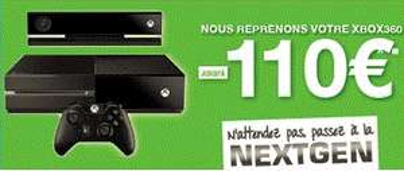 Pour la reprise d'une Xbox 360 : Console Xbox One