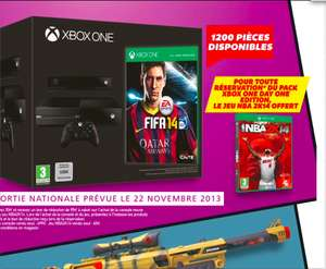 Console XBOX One Edition Day One (Fifa 14 inclus) + NBA 2k14 (Boite) + BF4 (-50%)