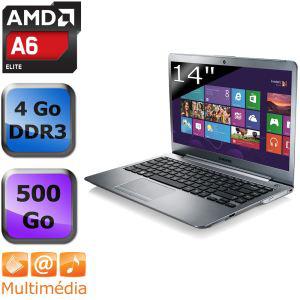 """Ultrabook Samsung 14"""" (A6/4Go/500Go/Radeon 7550M/Ecran mat)"""