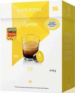 16 capsules café Café Royal compatible Dolce Gusto (différentes variétés)