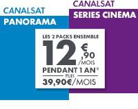 CanalSat Séries Cinéma + Panorama, chaque mois pendant 1 an