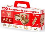 Baril 200 bûchettes de construction en bois LG