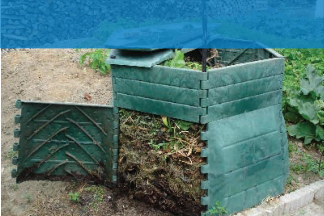 Composteur Bois (350L) ou Lombricomposteur + Bio-seau + Aérateur à compost ou 250g de vers + Formation