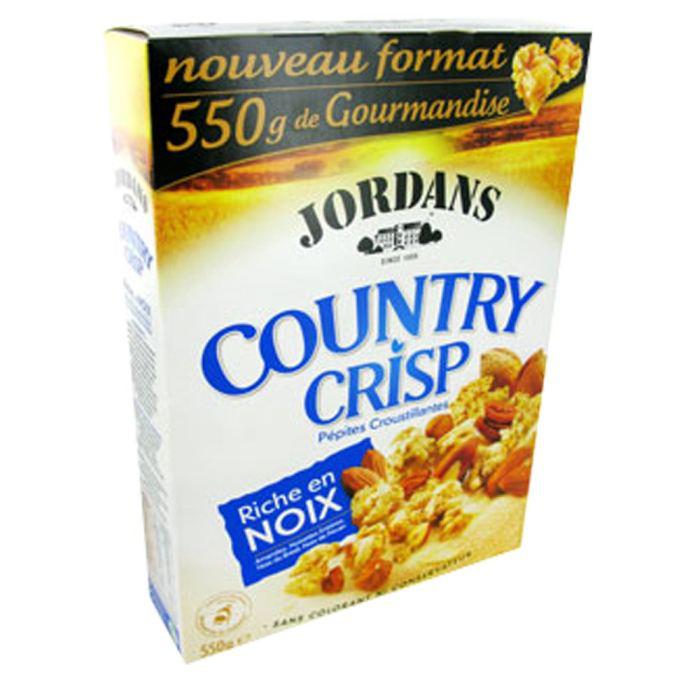 2 paquets de Jordan's Country Crisp