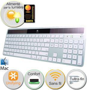 Clavier solaire sans fil logitech K750 pour Mac