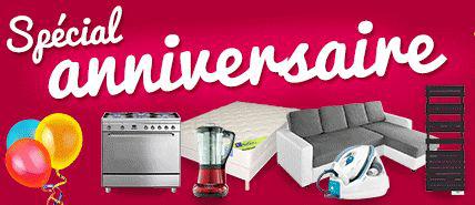 Offre Anniversaire : Bons de réduction offerts pour l'achat de certains articles (voir description)