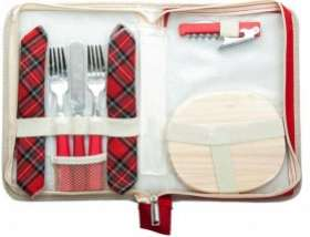 Pochette Pic Nic (2 fourchettes + 1 couteau + 2 serviettes + 1 tire-bouchon...) / Livraison offerte