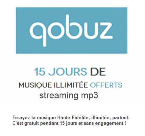 15 jours de musique illimitée offerts (Streaming MP3)