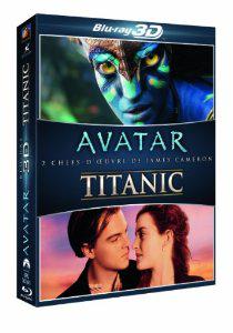 Coffret Blu-ray 3D : Avatar + Titanic (Version DVD incluse + Blu Ray Bonus, 6 disques au total)