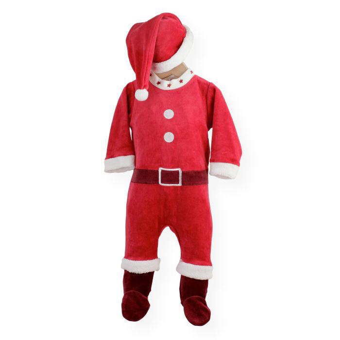 Pyjama Père Noël pour bébé (Taille 3 mois)