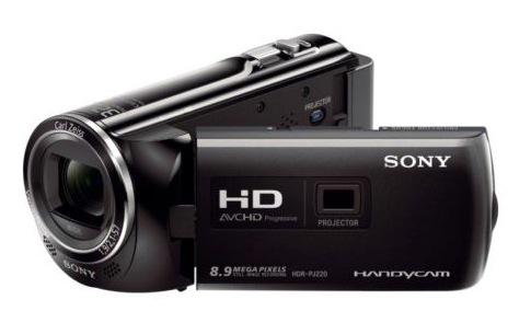 Camescope Sony PJ220E Full HD avec mémoire flash, projecteur intégré - Reconditionné