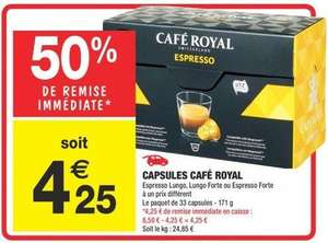 Capsule Cafe Royal Carrefour
