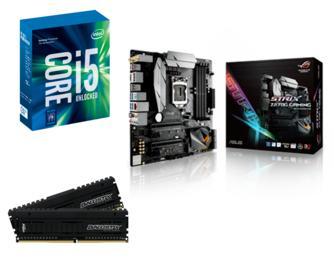 Sélection de Kits EVO Kabylake en promo - Ex :  Kit EVO Intel Core i5-7600K + Carte mère ATX Asus Rog Strix Z270G + Kit RAM 16 Go (2 x 8 Go) DDR4  3000 MHz Ballistix  Elite (via ODR 40€)