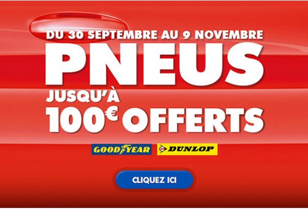 Speedy pneus hiver : jusqu'à 100€ de bons d'achats et gardiennage gratuit