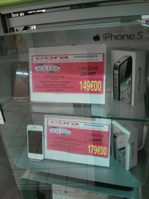 Smartphone iPhone 4S Noir 32 Go et Blanc 64 Go, avec abonnement 19.99€/mois