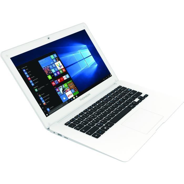 """PC Portable 14"""" Thomson THN14B - HD, Intel BayTrail Z3735F, RAM 2 Go, eMMC 32 Go, Windows 10 (via ODR de 10€)"""