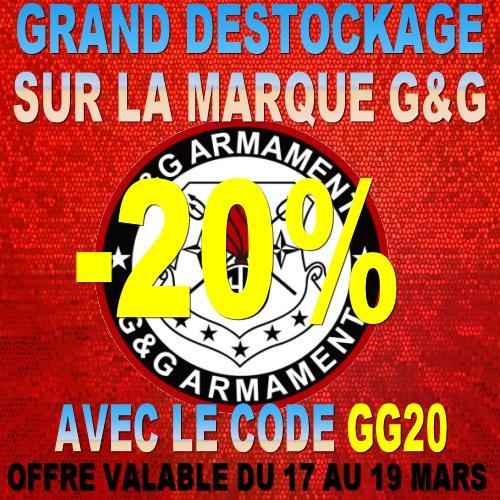 20% de réduction sur la marque G&G