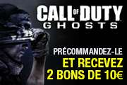 Call of Duty Ghosts sur PC, PS3, XB0X 360, Wii U, PS4, XBOX One  (+ 2 bons d'achat de 10€)