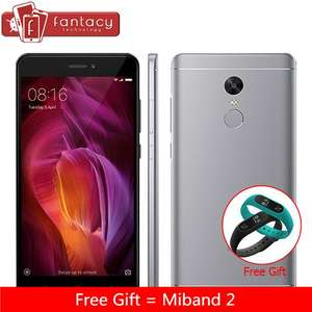 "Smartphone 5.5"" Xiaomi Redmi Note 4 - 4G + B20, Snapdragon 625, RAM 3 Go, ROM 32 Go + Bracelet Mi Band 2"