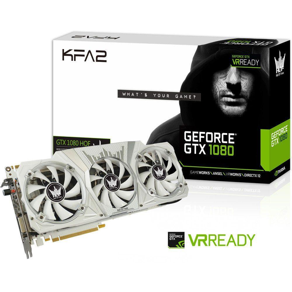 Carte graphique KFA2 Geforce GTX 1080 Hall Of Fame Aktiv PCIe 3.0 x16