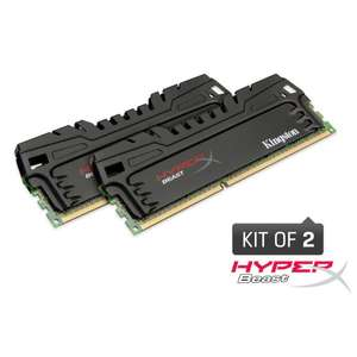 Kit Mémoire 2x4 Go DDR3 2400 MHz Kingston HyperX Beast XMP Series PC3-19200