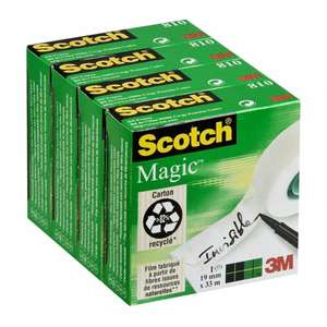 Lot de 4 rubans adhésifs Scotch Magic Invisible