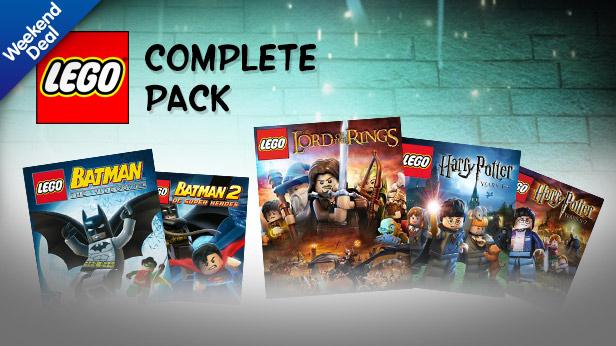 Pack de 5 jeux PC Lego (dématérialisés)