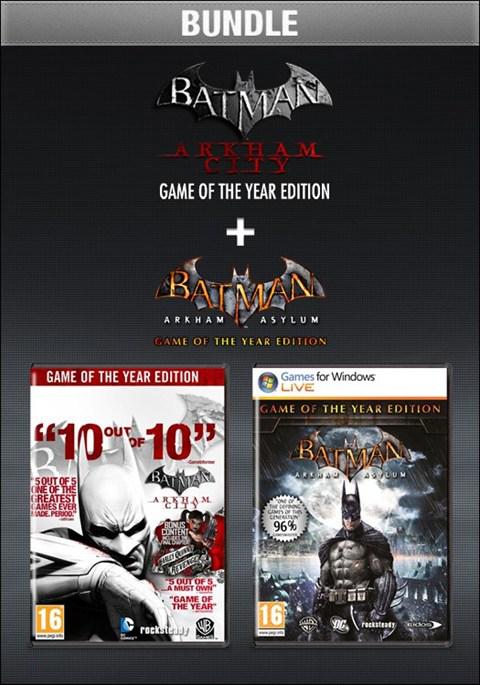 Batman Arkham City GOTY + Batman Arkham Asylum GOTY sur PC (Steam)