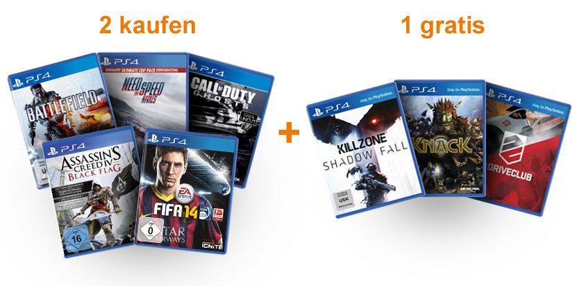 2 jeux PS4 pré-commandés = Le 3ème offert (parmi une sélection), soit les 3