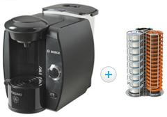Machine à café Bosch TAS4000SD 100Drine Edition limitée + Porte-capsules Tavola Swiss Capstore Giro (Avec ODR de 90€)