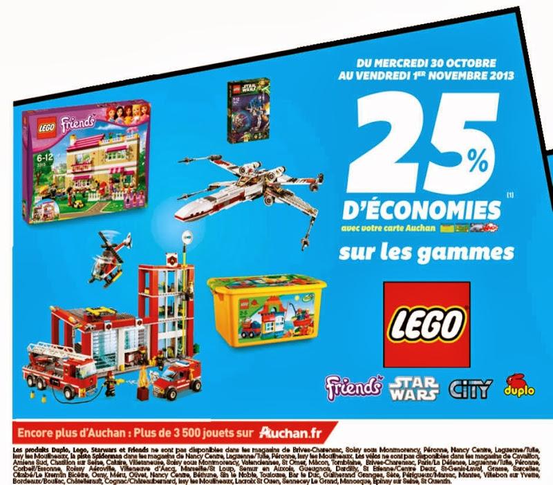 25% crédités sur la carte Waaoh sur les gammes Lego et Vtech Baby